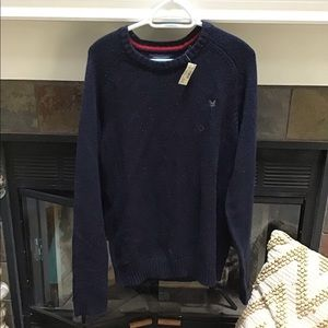 Men's American eagle navy blue sweater large nwt